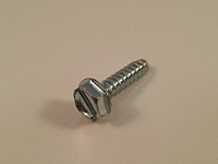Type 25 Slotted Indented Hex Washer Thread Cutting Screws - Zinc